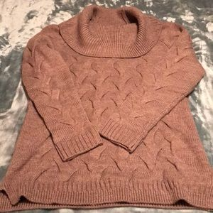 Calvin Klein Cable Knit Cowlneck Sweater Women's M